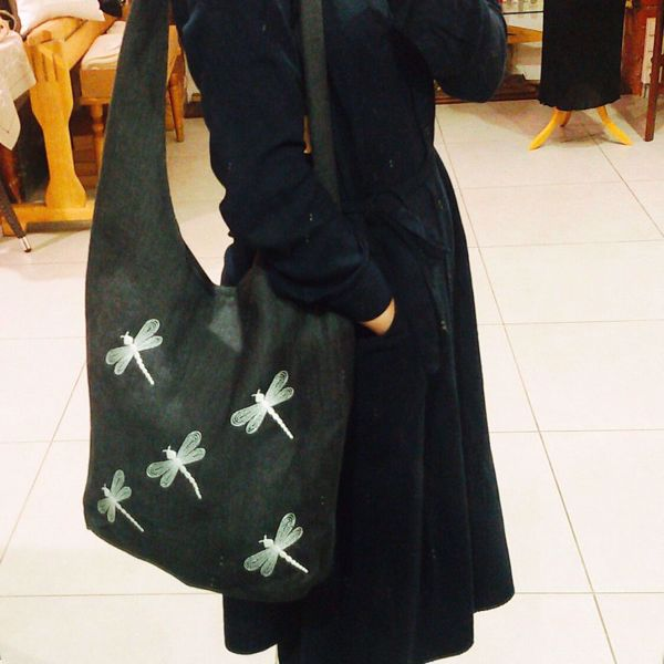 Picture of Linen bag with dragonflies