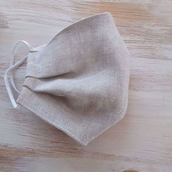 Picture of Linen face mask Natural linen 2-layers