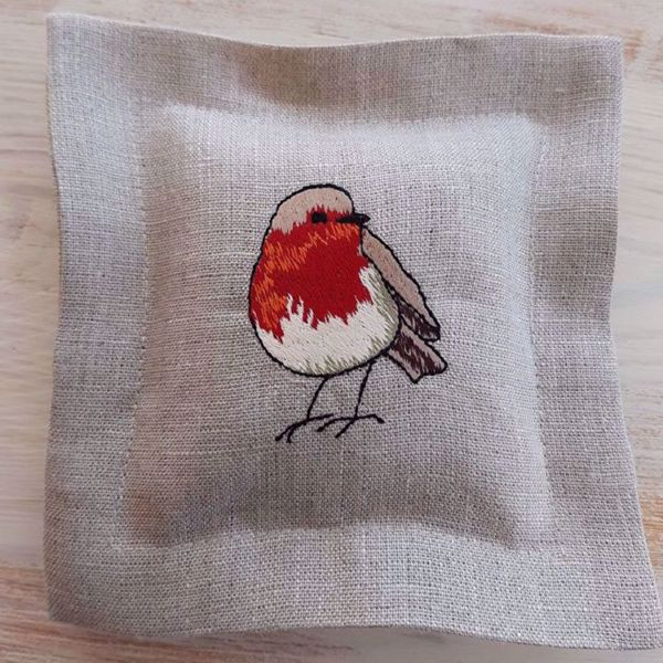 """Picture of Lavender pillow """"Bullfinch"""""""