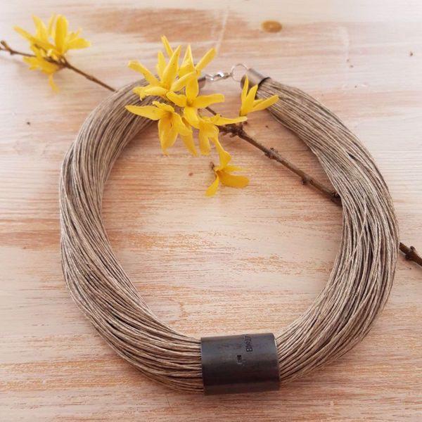 Prekės Naturalaus lino papuošalas nuotrauka