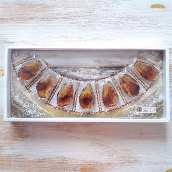 Prekės Saldus gintaras, dėžutė nuotrauka