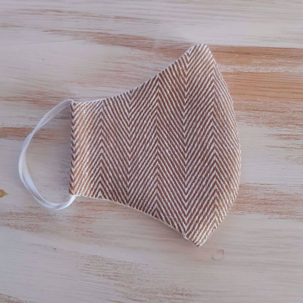 Picture of Linen face mask Fishbone 2-layers