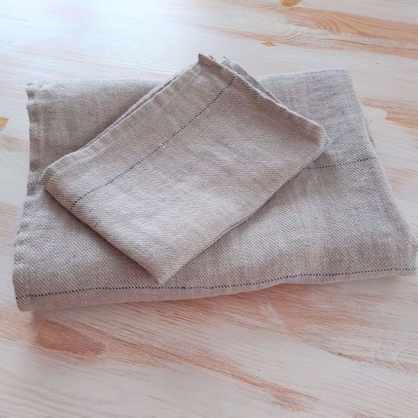 Picture of Linen towel natural grey 95X140cm
