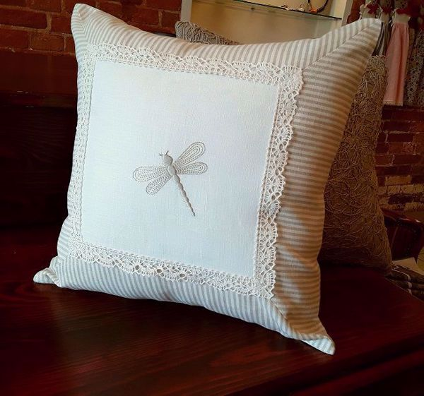 """Picture of Sofa Cushion """"Dragonfly"""" 40X40cm"""