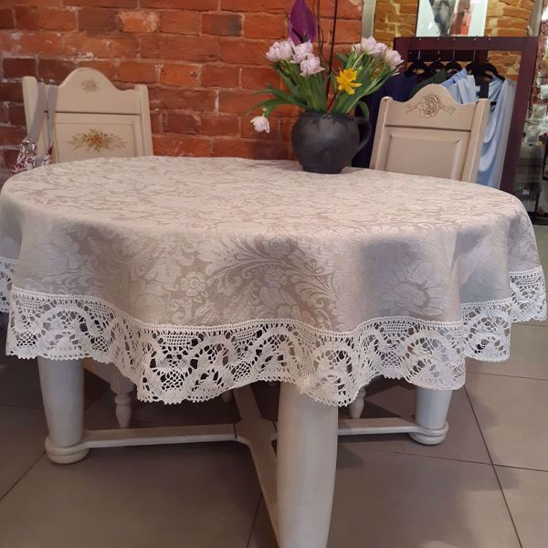 """Picture of Tablecloth """"Summer flowers"""" diam. 170cm."""