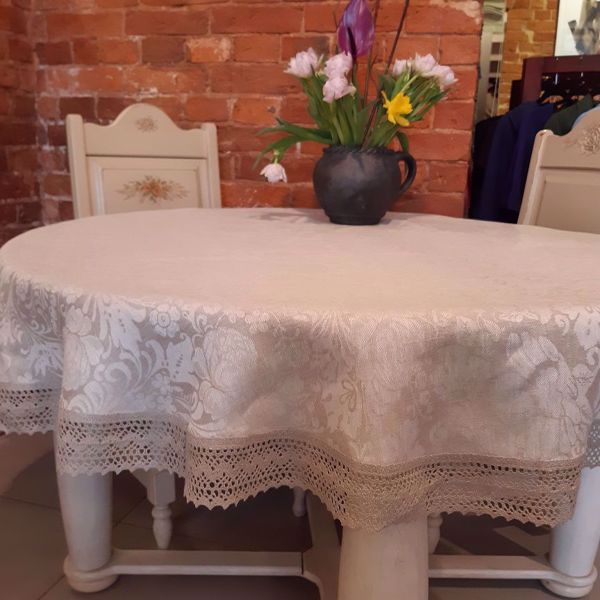 """Picture of Tablecloth """"Summer flowers"""" diam. 160cm."""